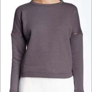 Gray sweatshirt by Lime & Vine. Size large